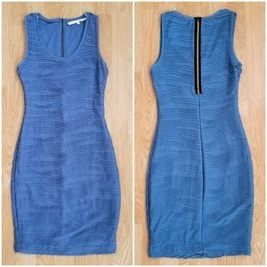 Rachel Roy Blue Sleeveless Sheath Dress sz XS